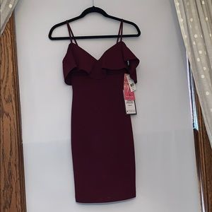 NWT Maroon off the shoulder homecoming/WPA dress